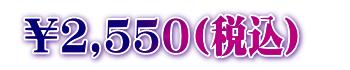 2,550円(税込)